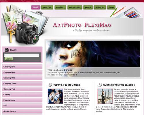 Шаблон для сайта фотографа Artphoto fleximag