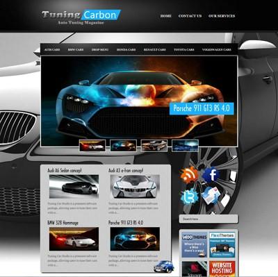 Автомобильная тема WordPress TuningCarbon