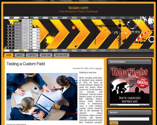 Шаблон на тему строительства WordPress Commercial construction 2