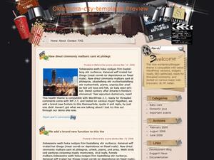 Киношаблон WordPress Drive in movie theater