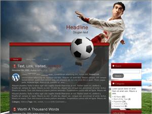 Спортивный шаблон football-10 для Вордпресс