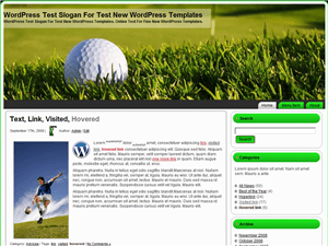 Тема WordPress гольф Golf Ball