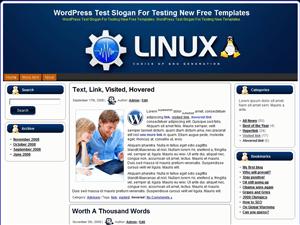 Техно-шаблон для Вордпресс Linux Generation