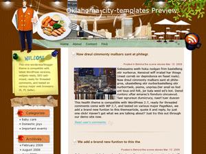 Кулинарная тема Overwhelming-dining Вордпресс