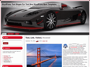 Автошаблон Вордпресс Red And Black Speed