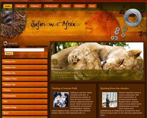 Тема об активном отдыхе Safari in africa для WordPress