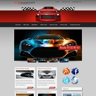 Авто тема WordPress RacingDriver