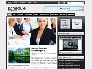 Бизнес тема WordPress Schedule