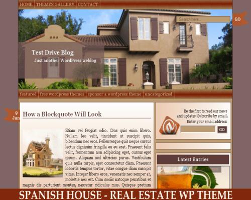 Вордпресс шаблон недвижимость Spanish house