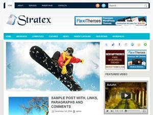 Спортивная тема Stratex для WordPress