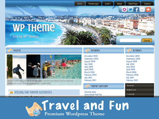 Тема о туризме для WordPress TravelandFun