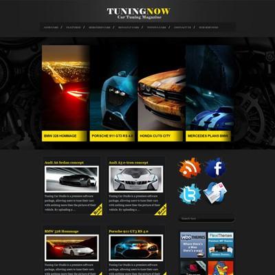 Автомобильная тема WordPress TuningNow