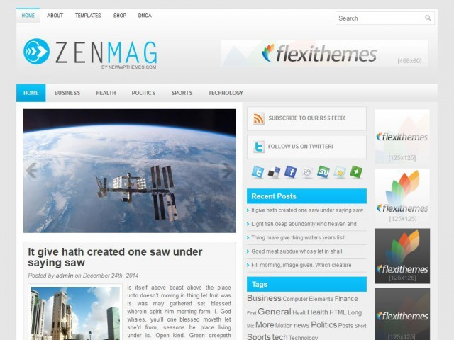 Шаблон WordPress галерея ZenMag