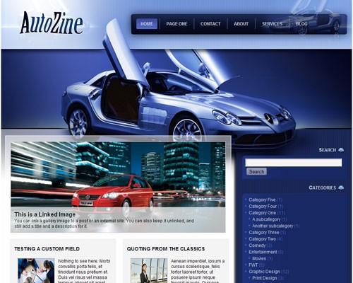 Автомобильная тема Autozine