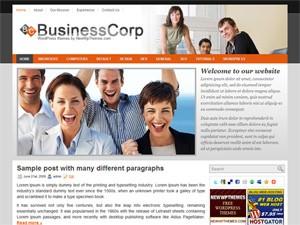 Бизнес-тема Вордпресс BusinessCorp