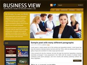 Бизнес тема Вордпресс BusinessView