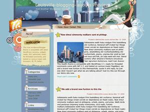 Женский шаблон для WordPress Dedicated-to-city-life