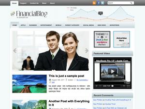 Финансовая тема Вордпресс FinancialBlog