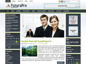 Бизнес шаблон для Вордпресс FuturaPro