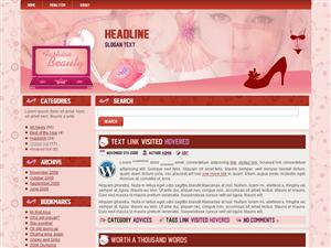 Женский шаблон WordPress GirlyThings
