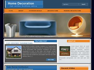 Вордпресс тема об интерьере Homedecoration