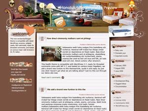 Шаблон дизайн интерьера WordPress Hotel-relax-stay