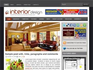 Шаблон на тему интерьера InteriorDesign Вордпресс
