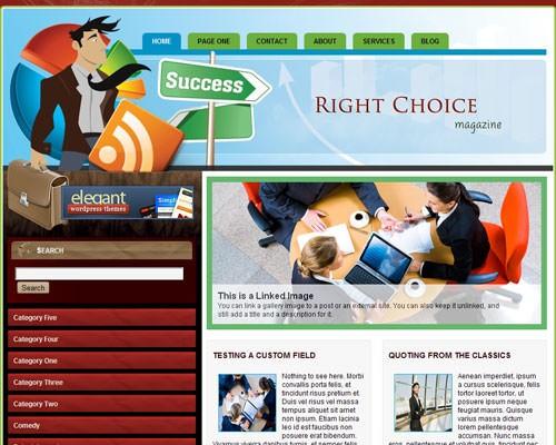 Бизнес-тема WordPress Right choice