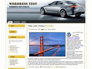 Автомобильная тема Вордпресс Silver Speed 2