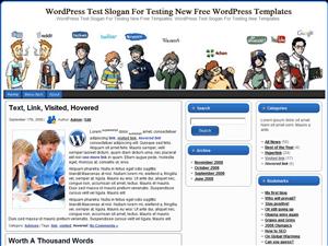 Тема WordPress социальные сети Social Networks Users