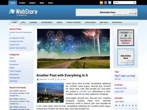 Бизнес тема WebStore для WordPress