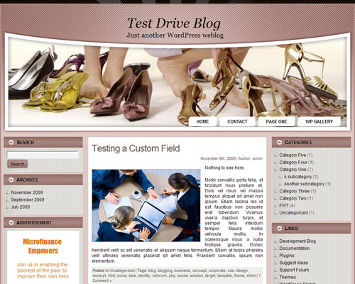 Тема WordPress шопинг Women shoes wp2