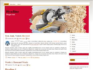 Строительный шаблон WordPress Wood Tools