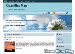 Светлая тема WordPress CleanBlueMag