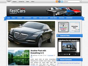Автомобильный шаблон WordPress FastCars