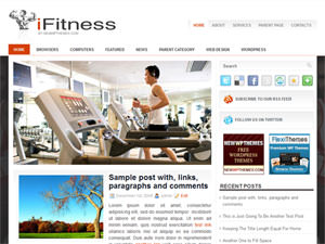 Шаблон WordPress фитнес iFitness