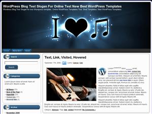 Музыкальная тема WordPress I Love Music 2