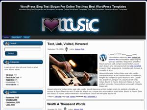 Музыкальная тема для Вордпресс I Love Music