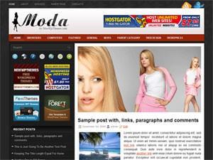 Вордпресс тема о моде Moda