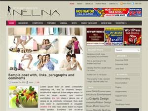 Шаблон WordPress шопинг Nelina