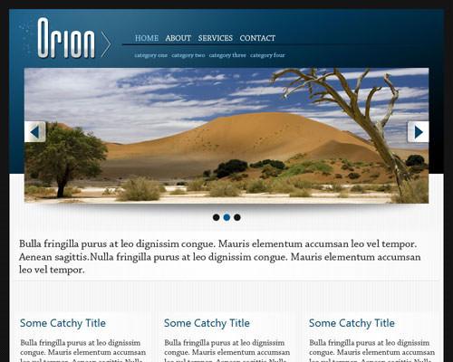 Шаблон Orion