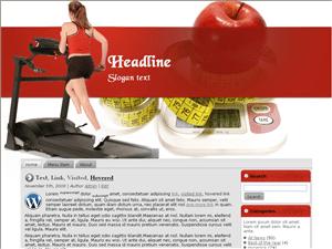 Фитнес шаблон для WordPress Fitness Time5