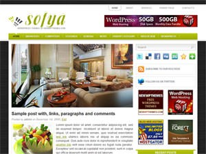 Тема WordPress дизайн интерьера Sofya