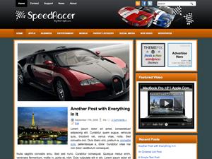 Автомобильный шаблон SpeedRacer для Вордпресс
