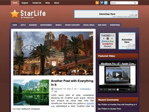 Бизнес-шаблон для WP StarLife