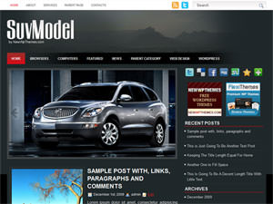 Автомобильная тема Вордпресс SuvModel