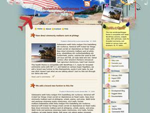 Шаблон Вордпресс путешествия Travelers-paradise