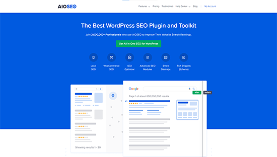 All in One SEO for WordPress (AIOSEO)