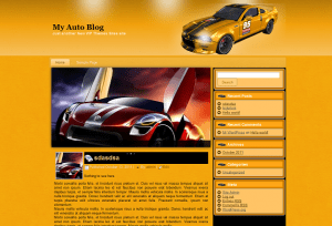 Вордпресс тема авто My Auto Blog