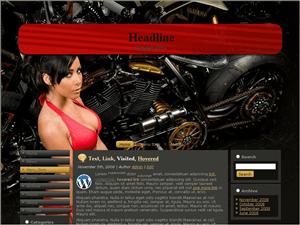 Wordpress шаблон мото Bike-87